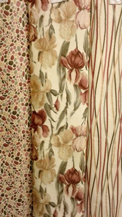 Ткань Бургунди -  фото в интерьере